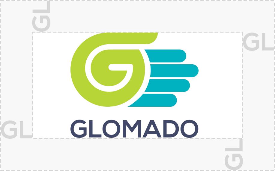 GLOMADO logo spacing