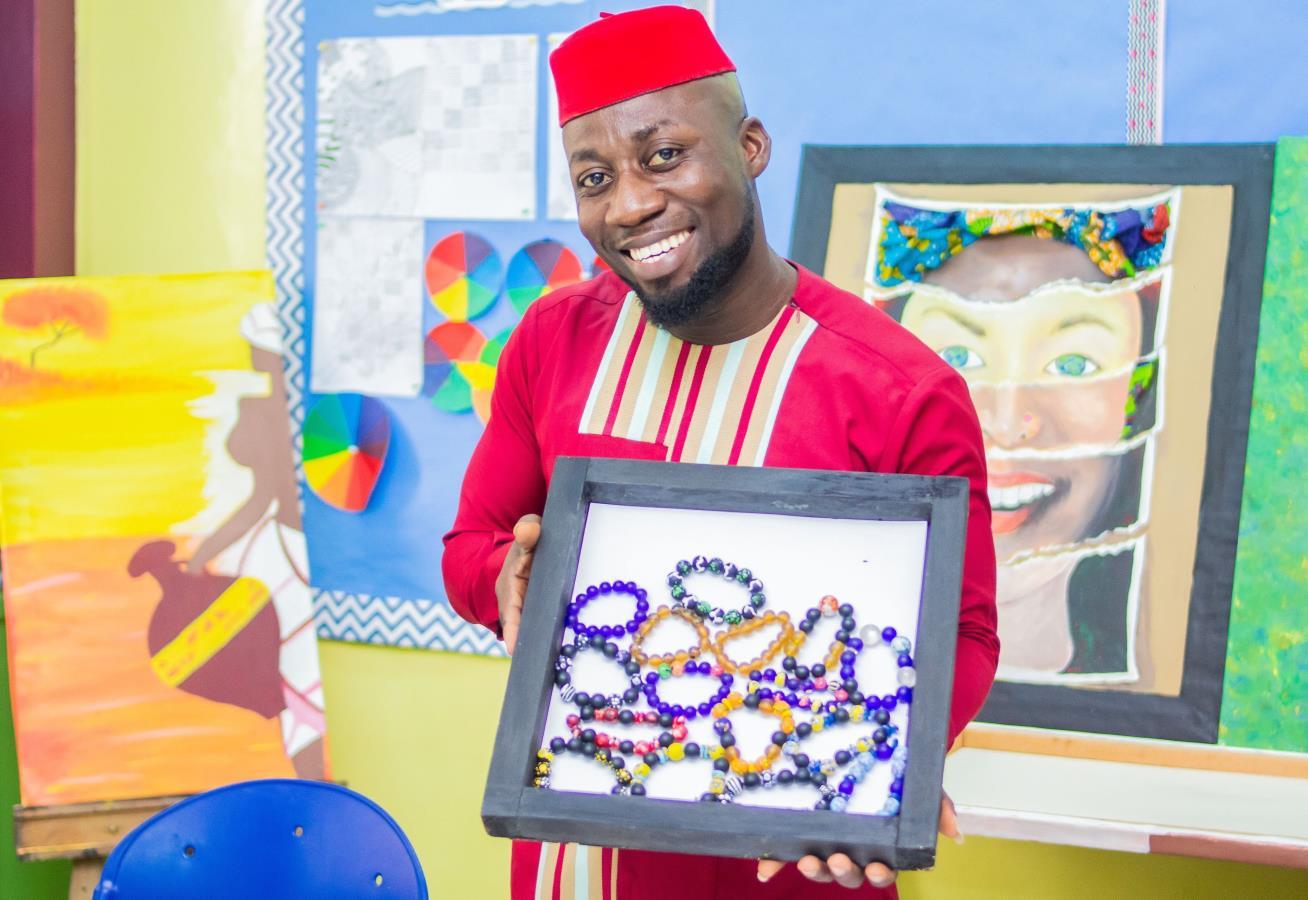 Krobo Beads and Bracelet