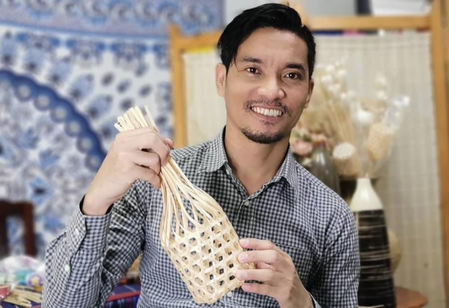 Bamboo Basket from Thailand