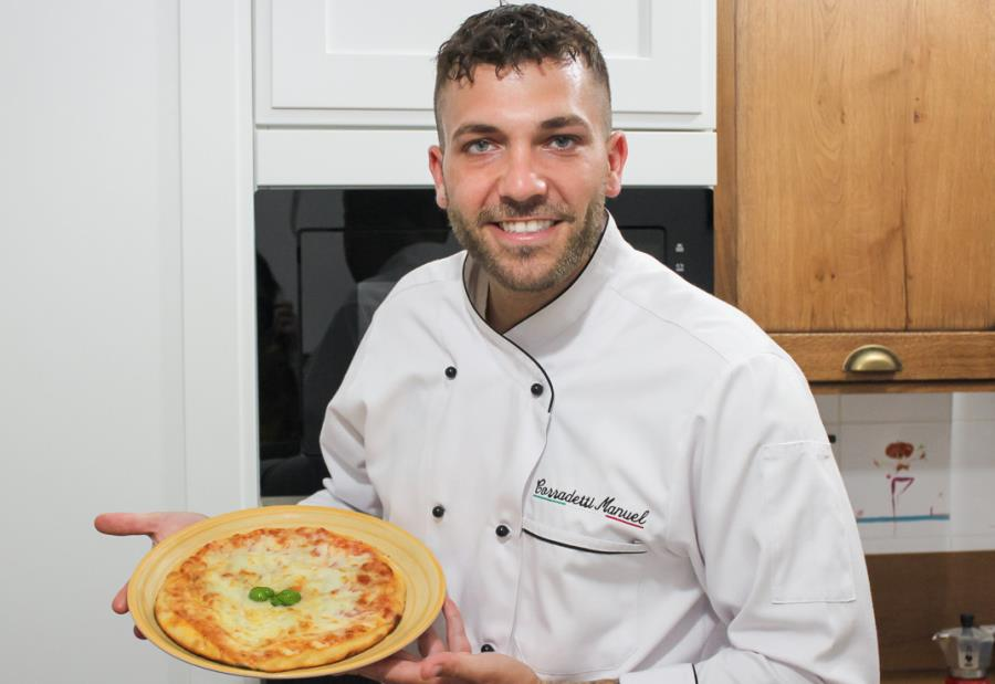 Italian Traditional Homemade Pizza with Chef Manuel