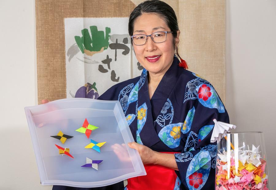 Origami Ninja Stars and Ninja Star Spins from Japan