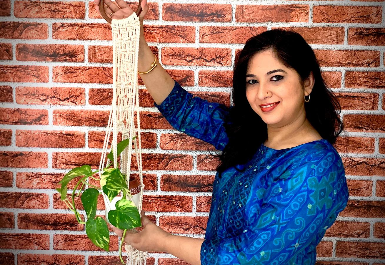 Macrame Plant Hanger from India